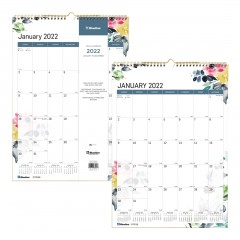 Watercolor Monthly Wall Calendar 2022