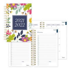 Academic Daily Planner Floral 2021-2022