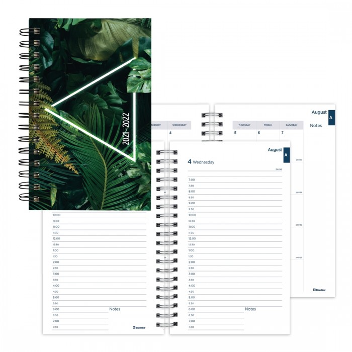 Academic Daily Planner Neon 2021-2022
