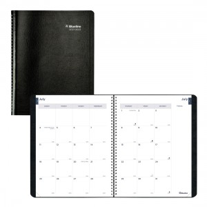 Academic Monthly Planner Classic 2021-2022 - Black
