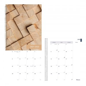 Academic Monthly Planner Cabin 2021-2022 - Tile