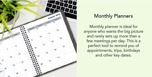 Blueline Monthly Planners
